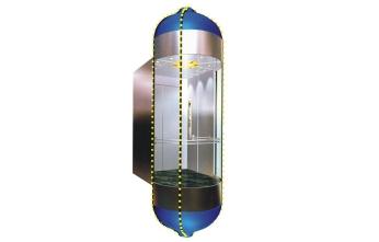 广西圆形观光电梯